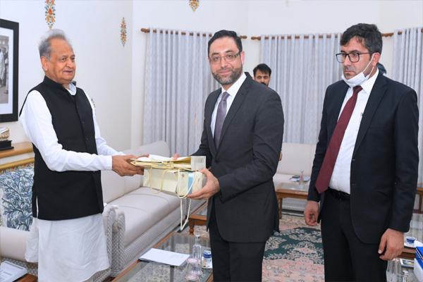A courtesy call on the Ambassador of Afghanistan to CM Gehlot - Jaipur News in Hindi