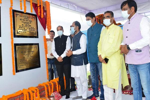 CM Jai Ram Thakur lays foundation stone of nine developmental projects - Shimla News in Hindi