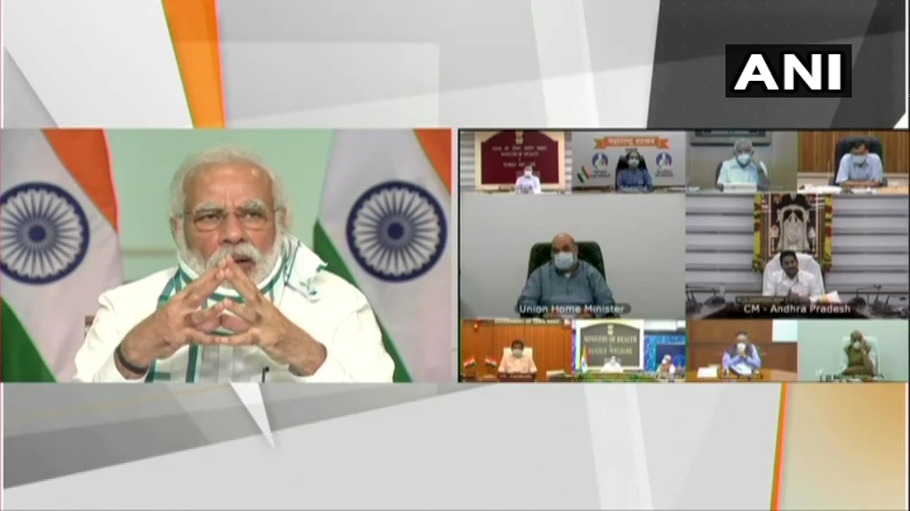 PM Modi holds virtual meeting of COVID management with CMs of 7 states, union territories - Delhi News in Hindi