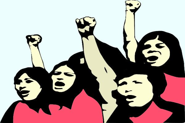 demonstration of Congress on the seeking of compensation to Minor girl - Churu News in Hindi