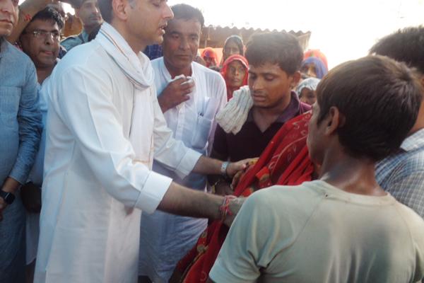 Sachin Pilot meet victims family in Dholpur - Dholpur News in Hindi