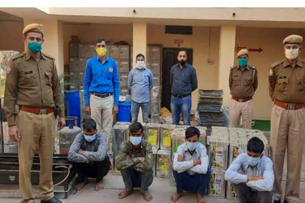 Fake ghee making factory caught in Jaipur, four arrested - Jaipur News in Hindi