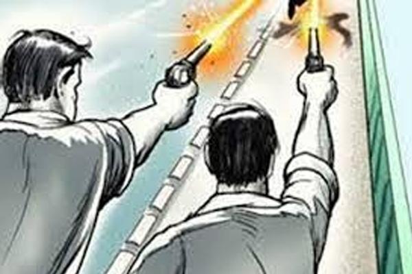 Miscreants spread terror by firing air - Jaipur News in Hindi