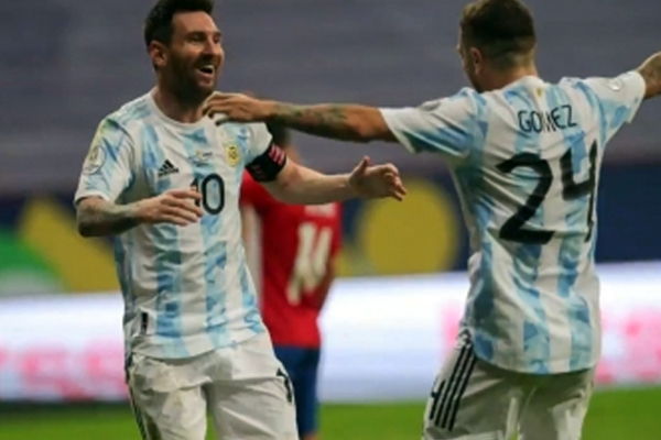 Gomez sends Argentina into Copa America quarterfinals - Football News in Hindi