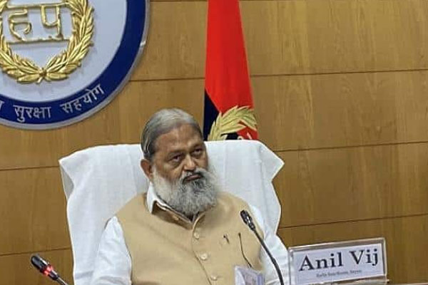 Farmers protest has turned into political event: Anil Vij. - Gurugram News in Hindi