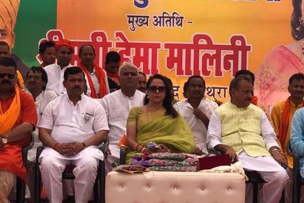 UP : कांग्रेस पार्टी भ्रष्टाचार, अनाचार, दुराचार की पोषक : हेमा मालिनी