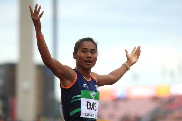 Hima Das bags 200m gold in Poland, Sonowal congratulates - Sports News in Hindi