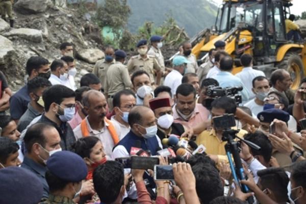 Himachal flashfloods: Nine still missing, CM meets affected families - Shimla News in Hindi