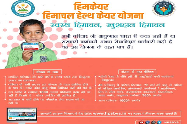 Himcare scheme became a boon for health care facility - Dharamshala News in Hindi
