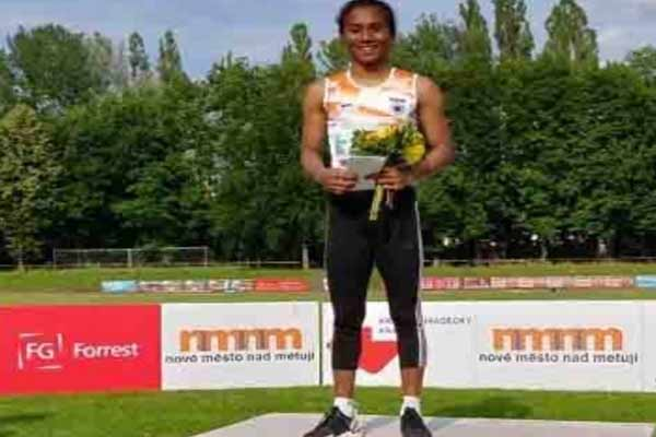 Indian Grand Prix: Hima won gold in 100 meters - Sports News in Hindi