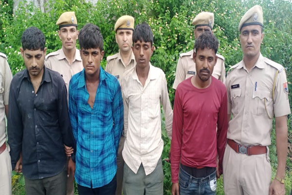 Inter-state gang of theft and robbery exposed in Bhilwara, 4 accused including gangster arrested - Bhilwara News in Hindi