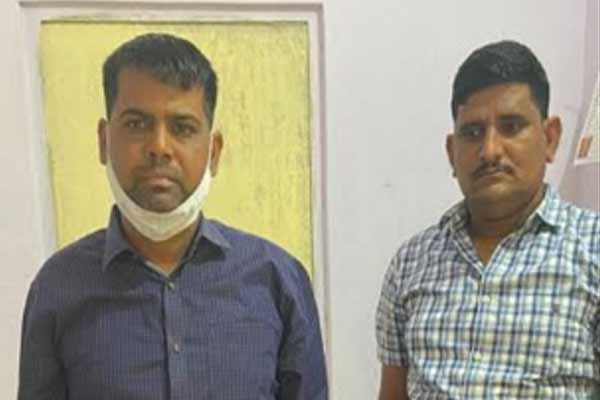 Jaipur ACB caught bribery AFO and driver, arrested taking bribe of 90 thousand rupees - Jaipur News in Hindi