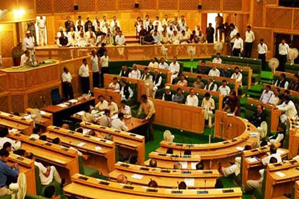 National anthem insulted in Jammu Kashmir assembly governor cut shots his speech - Srinagar News in Hindi
