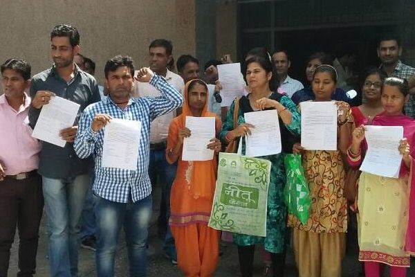 JBT teachers demanded death to protest against notice of cancellation of appointment - Kaithal News in Hindi