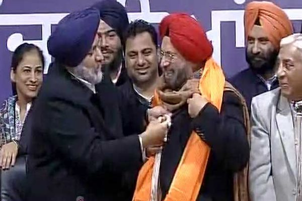 ex army chief jj singh joins SAD, will contest against captain amarinder - News in Hindi