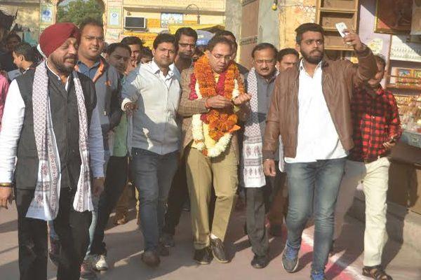 mayor Ashok Lahoti visited city, angry to see the mess - Jaipur News in Hindi