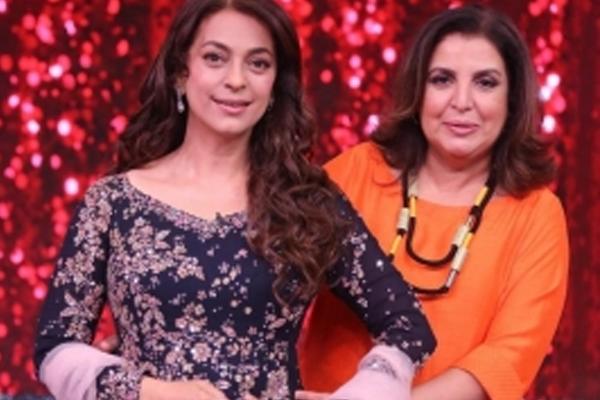 Juhi Chawla recalls nearly getting a thappad from Farah Khan! - Television News in Hindi