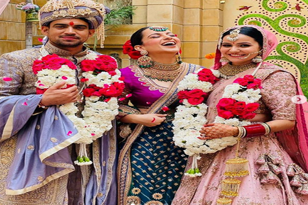 अभिनेत्री कंगना रनौत के भाई की शादी की तस्वीरें, यहां देखें