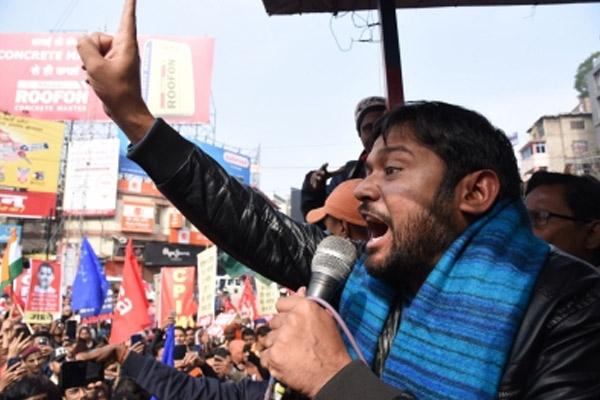 Hyderabad police did not allow Kanhaiya Kumar to hold public meeting - Hyderabad News in Hindi
