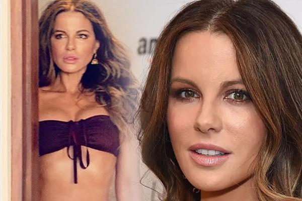 Kate Beckinsale deep purple flaunt in lingerie - Masala Gossips in Hindi