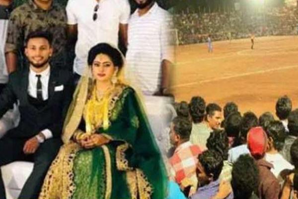 Kerala footballer takes 5 minute break from his wedding ceremony to play a match, impresses Rajyavardhan Rathore - Thiruvananthapuram News in Hindi