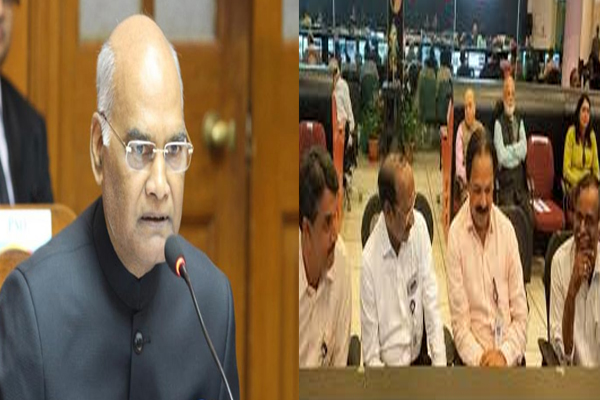 Chandrayaan-2:President Ram Nath Kovind tweets,  The country is proud of ISRO. We all hope for the best - Delhi News in Hindi