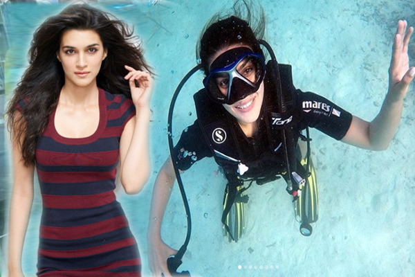 Actress Kriti Sanon tries scuba diving for first time, calls it surreal - Bollywood News in Hindi
