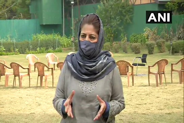 BJP did not give poor bread for two time, what will it buy land in Jammu and Kashmir: Mehbooba Mufti - Srinagar News in Hindi