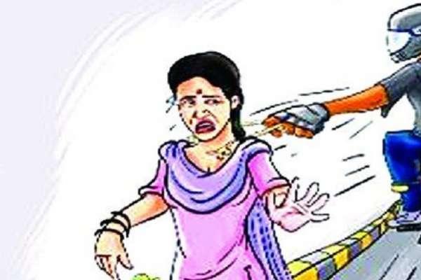 जयपुर में महिला के गले से तोड़ ले गए मंगलसूत्र