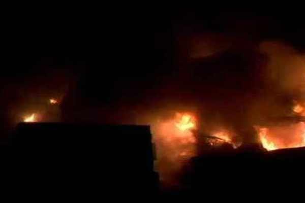 Massive fire in footwear factory in Jaipur, loss of lakhs of rupees - Jaipur News in Hindi