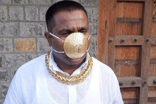 Meet the Pune man with the golden mask - Pune News in Hindi