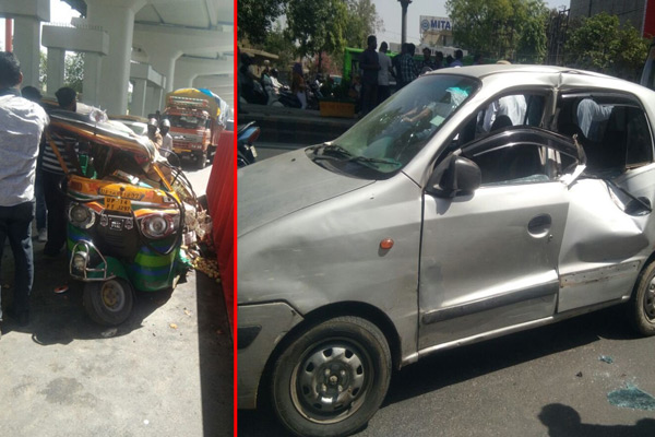 accident in Ghaziabad, Metro gutter fall down, 5 people injured - Ghaziabad News in Hindi
