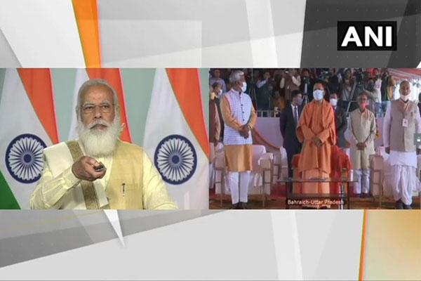 PM Modi laid the foundation stone of the memorial of Maharaja Suheldev in Bahraich - Bahraich News in Hindi