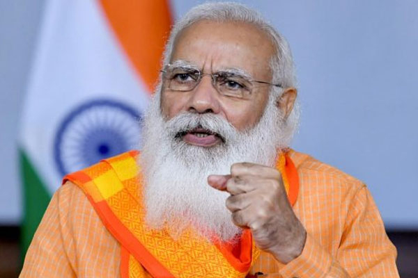 Modi interacts virtually with PM-GKAY beneficiaries in UP - India News in Hindi