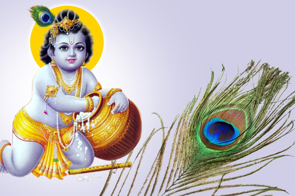 Peacock feathers and photo of Shri Krishna affects our life - Jyotish Nidan in Hindi