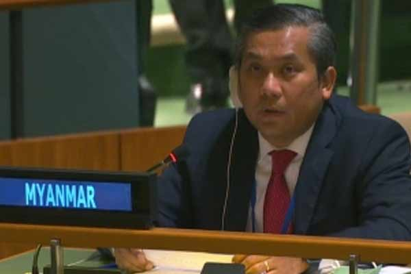 Myanmar envoy in the U.N. condemns the coup in his country - World News in Hindi
