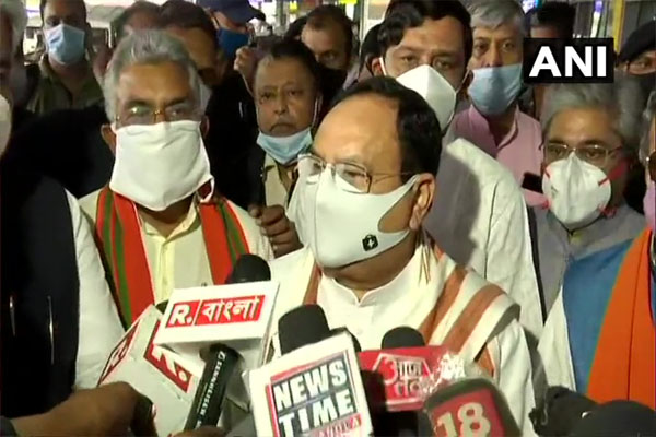 Events after the election results of West Bengal cause concern - JP Nadda - Kolkata News in Hindi