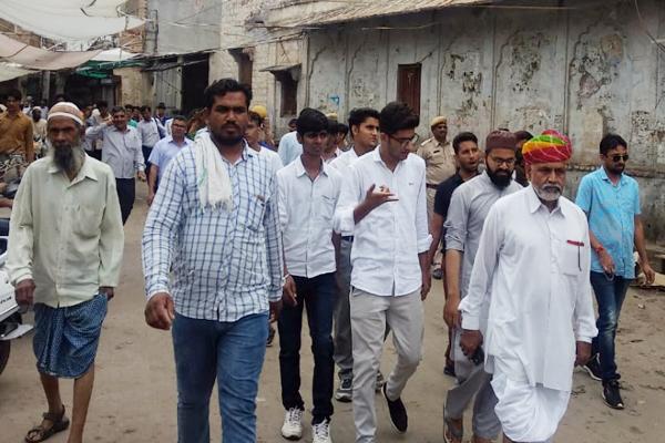 सामाजिक व धार्मिक कार्यक्रमों के साथ नागौर में सफल रहा कांग्रेस का भारत बंद