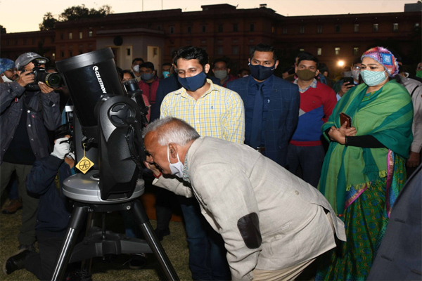 Night sky tourism in Jaipur - Telescope will be able to see sky views for free - Jaipur News in Hindi