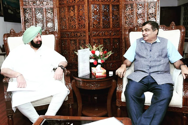 CM urges Nitin Gadkari to speed up road construction projects - Punjab-Chandigarh News in Hindi