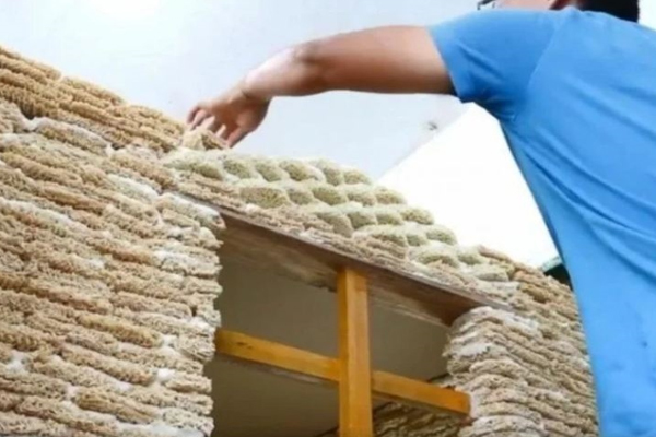 Man builds house with noodles for his baby - Weird Stories in Hindi