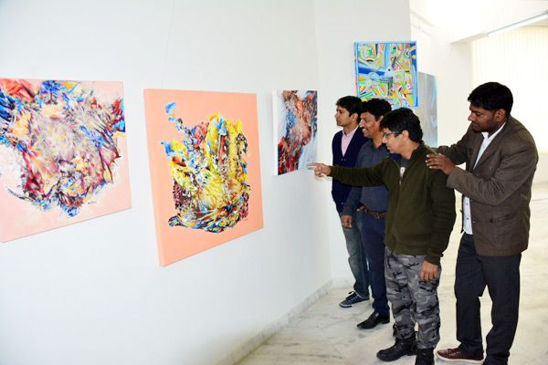 saw the beauty of nature in Paintings exhibition - Jaipur News in Hindi