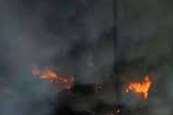 Panic due to fire in cotton factory in Jaipur - Jaipur News in Hindi
