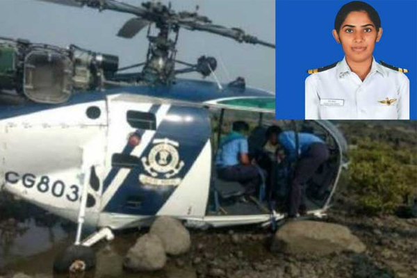 CM Khator condoles the death of co-pilot Penny Chaudhary of Coast Guard - Chandigarh News in Hindi
