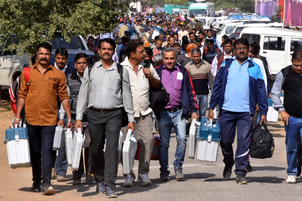 Rajasthan elections - Polling parties leave - Jaipur News in Hindi