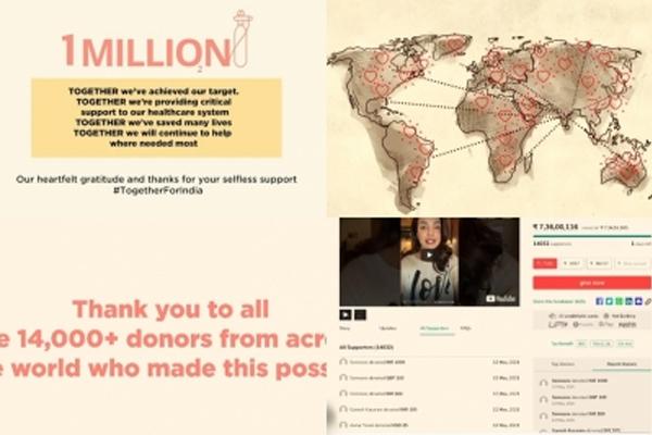 Priyanka Chopra: Over 14,000 good Samaritans helped us raise dolar1mn - Bollywood News in Hindi