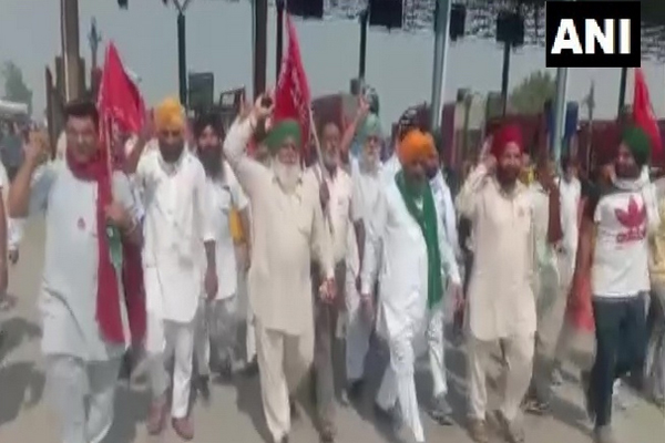 Demonstration in Punjab against farmers agricultural laws, - Ludhiana News in Hindi