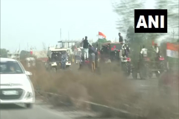 Tractor rally on Delhi-Jaipur expressway also, - Jaipur News in Hindi