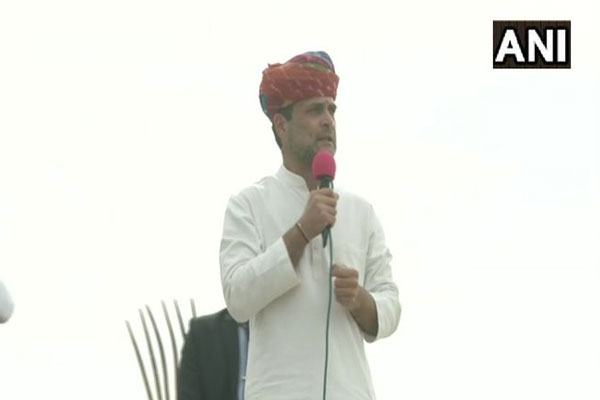 Rahul Gandhi shouts at Ajmer tractor rally, laborers and farmers will be unemployed due to new agricultural law - Ajmer News in Hindi