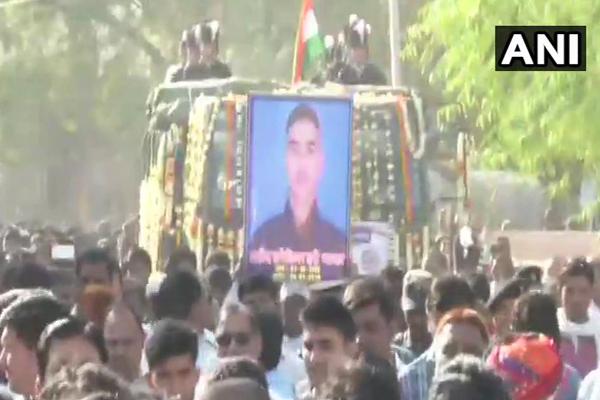 शहीद हरिराम की अंतिम यात्रा निकली, श्रद्धांजलि देने बड़ी संख्या में उमड़े लोग